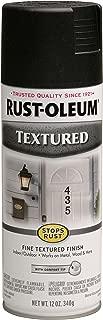 Rust-Oleum 7220830 Textured Spray Paint, 12 oz, Black