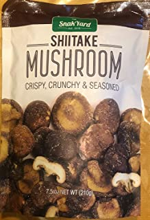 The Snak Yard Shiitake Mushroom 7.5 Oz Crispy Crunchy & Seasoned - PACK OF 2