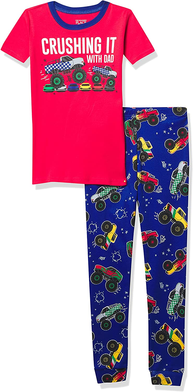 The Children's Place Baby And Toddler Boys Monster Truck Snug Fit Cotton Pajamas