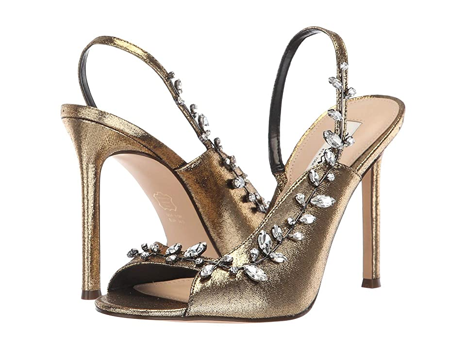 Nina Deanne (Antique Gold Metallic Fabric) High Heels