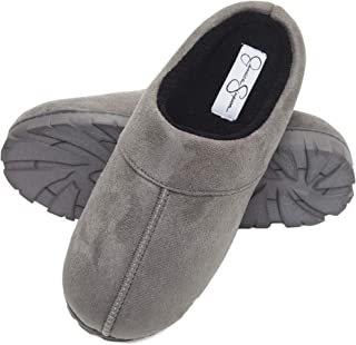 Microsuede Clog Slippers with Plush Microterry Lining and Indoor/Outdoor Sole