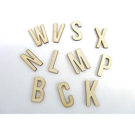 1/cm adhesivo letras y d/ígitos Craft Alphabet decoraci/ón nf43 Peque/ñas de madera 250/