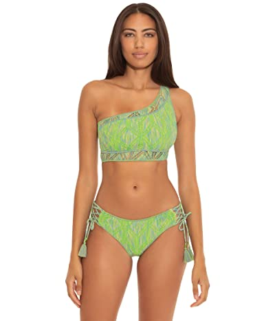 BECCA by Rebecca Virtue Mosaic Emily Crochet Lace-Up Hipster Bottoms