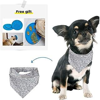 PYOGO Dog Reflective Bandana - Unique Design - Safe at Night - Adjustable - Various Size - Bonus...