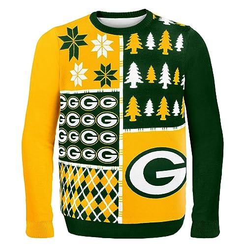 3c90bc722bb Green Bay Christmas Sweater  Amazon.com