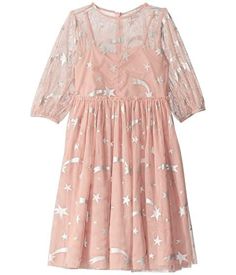 Stella McCartney Kids Foil Stars Tulle Overlay Dress (Toddler/Little Kids/Big Kids)