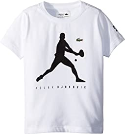 Lacoste Kids - Technical Jersey Novak Fan Capsule Logo T-Shirt (Little Kids/Big Kids)