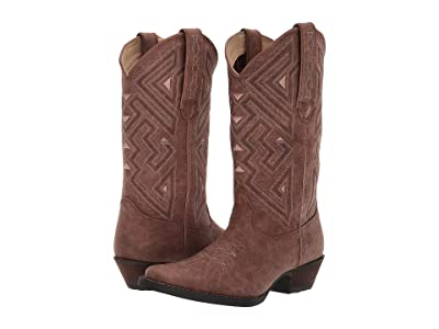 Durango 12 Crush Narrow Square Toe (Distressed Sepia) Women