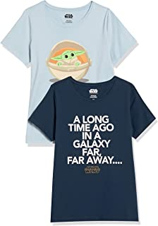 Amazon Essentials da donna Disney Star Wars Marvel T-shirt girocollo