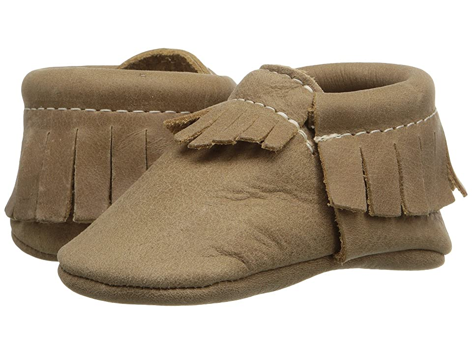 Freshly Picked Soft Sole Moccasins (Infant/Toddler) (Weathered Brown) Kids Shoes
