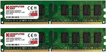 KOMPUTERBAY 8GB (2 X 4GB) DDR2 DIMM (240 PIN) 800Mhz PC2 6400 PC2 6300 8 GB - CL 5