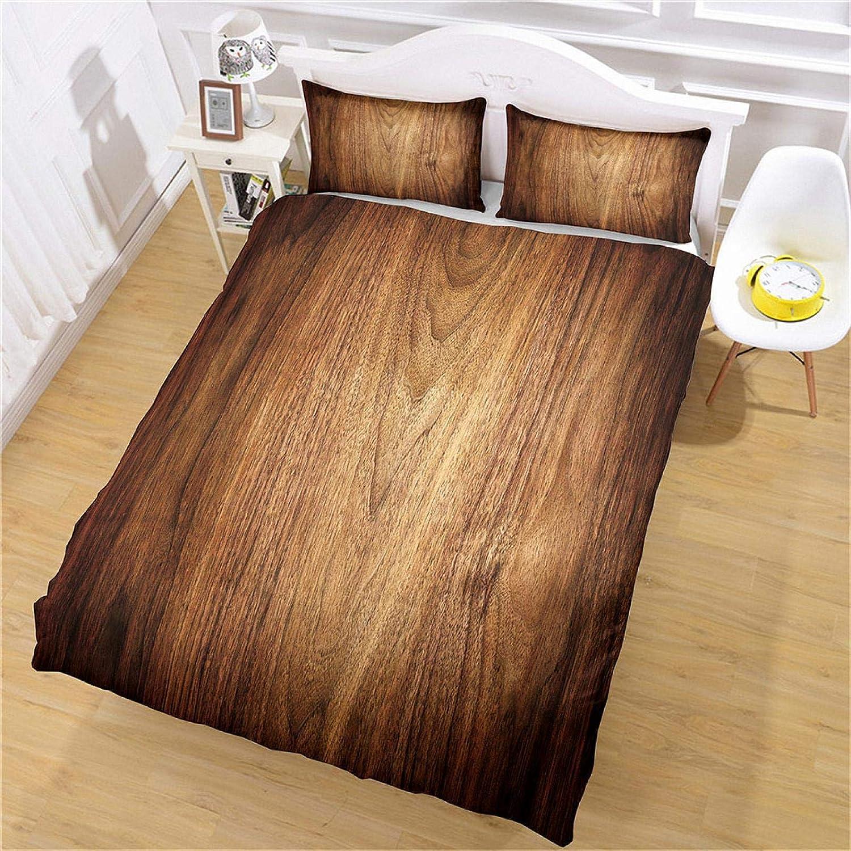 MENGBB Duvet Cover Set 3D Effect Wood plank Max 76% OFF 53