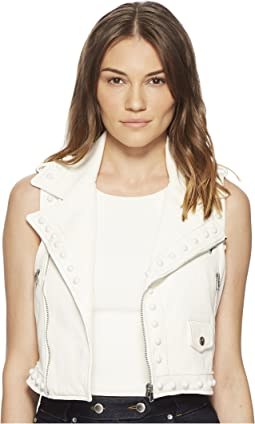 RED VALENTINO - Leather Vest with Boules