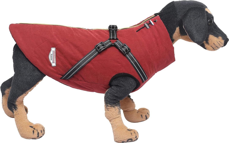 morbido e caldo Ctomche in pile adatto per cani di taglia piccola con chiusura a cerniera e anello per guinzaglio media e taglia S Cappotto impermeabile antivento per cani