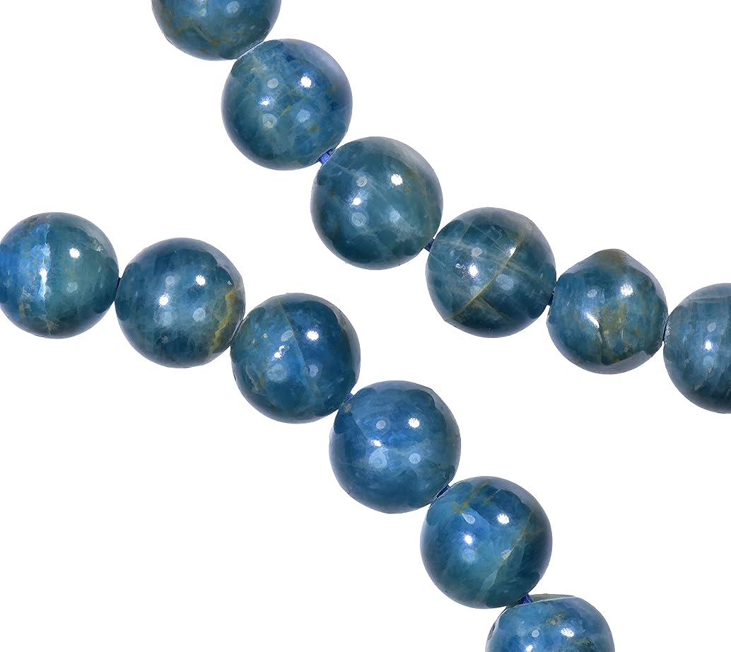 Apatite 7mm Round Bead Strand Dark Blue