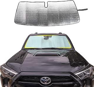 JeCar Front Windshield Sunshade 4runner Sunshade Car Sun Shade Heat Shield 4runner Custom-fit Sunshade Sun Visor Mat for 2017 2018 2019 Toyota 4runner SUV