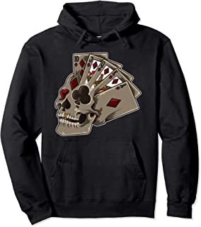 Poker Themed Skull - Casino Theme Party Gift Pullover Hoodie