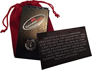 Gamble Gram Gamble Box Gift Set Casino Gambling Cash Management Pocket Lock Box Innovative Way for Any Type of Gambler to Stop Giving Back All Cash Winnings Just Leave Keys Home While Ahead Fold and Slip Small Large Cash Wins in Pocket Box so They Can't Access It Till They Get Home
