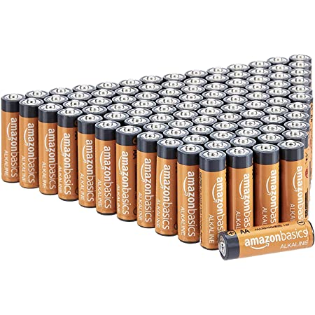 Amazon Basics AA 1.5 Volt Performance Alkaline Batteries - Pack of 100 (Appearance may vary)