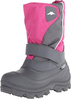 Tundra Unisex Child Quebec, Watter Resistant Winter Boots, Fuchsia Charcoal, 2 M US Little Kid