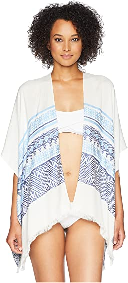 Geo Stripe Beach Shawl