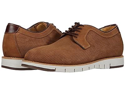 J&M Collection Martell Perf Plain Toe (Brown) Men