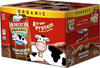 Horizon Organic UHT Chocolate Milk Boxes, 1% Single Serve, 8 Oz., 12 Count
