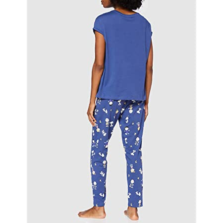 Womensecret, Pijama Charlie para Mujer, Azul Oscuro, XXL