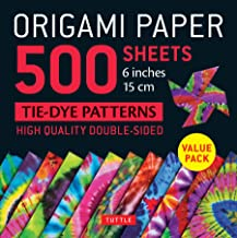 """Origami Paper 500 sheets Tie-Dye Patterns 6"""" (15 cm): High-Quality, Double-Sided Origami Sheets Printed with 12 Designs (I..."""