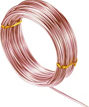 32.8 Feet Aluminum Wire, Bendable Metal Craft Wire for Making Dolls Skeleton DIY Crafts (Copper, 2 mm Thickness)