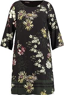 Samoon 380011-21426 Robe, Multicolore (Black Gemustert 1102), 46 (Taille Fabricant: 44) Femme