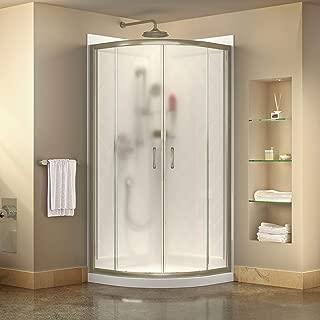 DreamLine DL-6152-04FR Prime Shower Enclosure, Base and Backwalls, 33