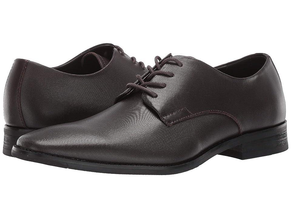 Calvin Klein Ramses (Dark Brown Small Grid Emboss Leather) Men