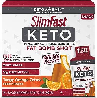 Best SlimFast Keto Fat Bomb Shot - Tangy Orange Crème - 10 Fl Oz - 10 Count - Pantry Friendly Reviews