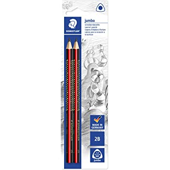 12 x Schreiblernstift Dreicksform Bleistift weiche 2B Mine günstige Alternative