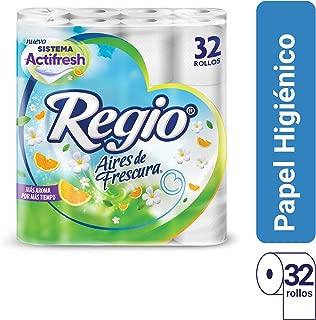 Regio Aires de Frescura Papel Higiénico, 200 hojas dobles, 32 Rollos