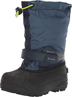 Columbia Unisex Youth Powderbug Forty Snow Boot, Whale/Fission, 6 Regular US Big Kid