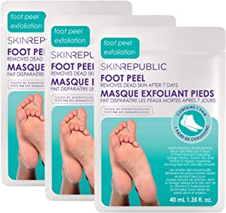 Skin Republic Foot Peel Removes Dead Skin Leaving Feet Soft and Smooth 1 Pair per pack 3 Packs