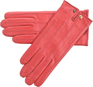 Lambland Ladies Genuine Leather Gloves with Popper Fastening