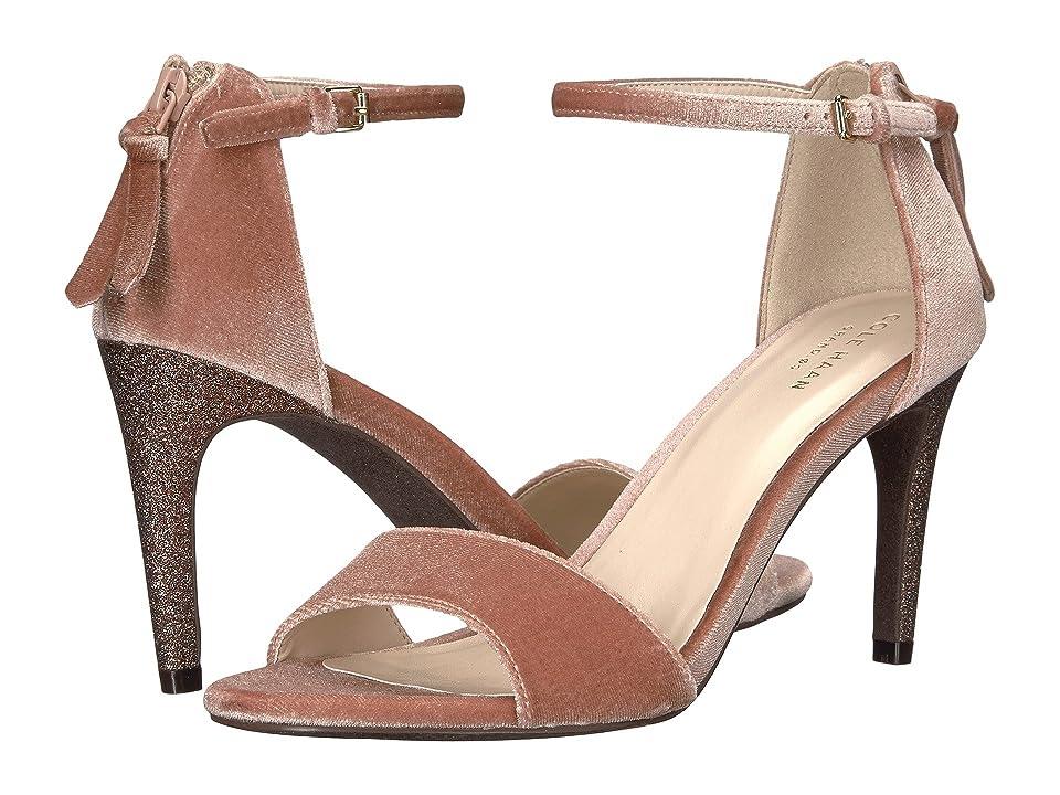 Cole Haan Clara Grand Sandal 85mm (Nude Velvet/Glitter) Women