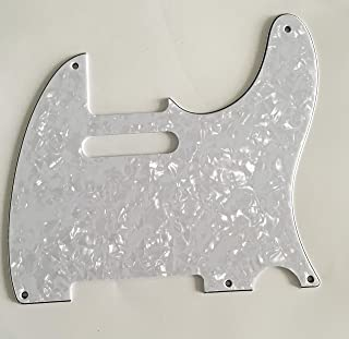 Electric Guitar Pickguard for Fender Telecaster 5 Hole Style (4 Ply White Pearl)