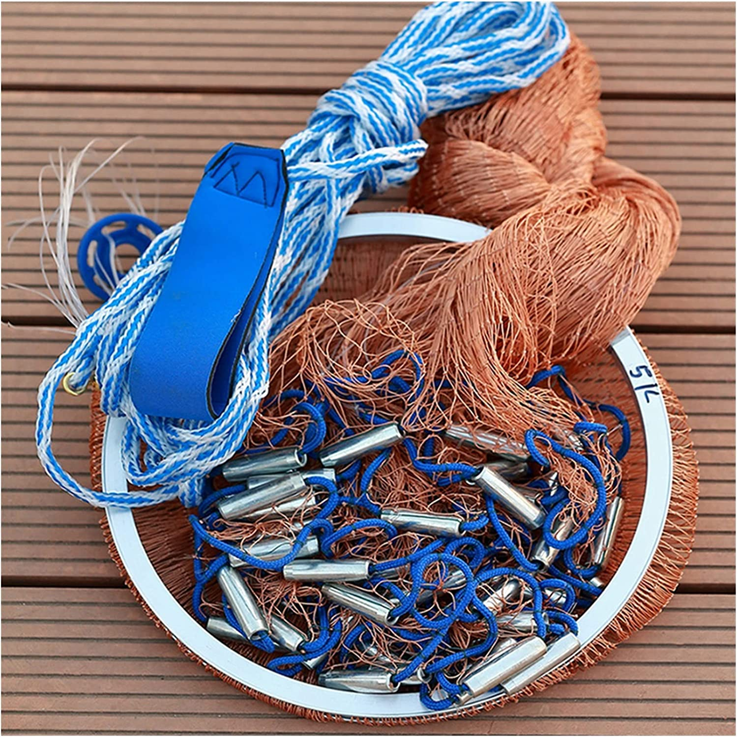 FRSDMY Max 80% OFF Soldering Fishing Net Casting Throwin Wire Network Braided