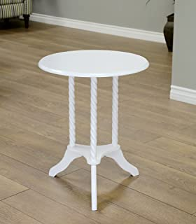 round white nightstand table