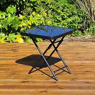 comprar comparacion Kingfisher - Mesa Plegable para jardín o Patio - Ideal para Bebidas - Color Negro