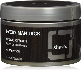 Every Man Jack Premium Shave Cream, Cedarwood, 8.0-ounce