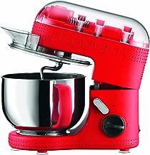 BODUM 11381-294US Bistro Electric Stand Mixer, 4.7-Liter, Red