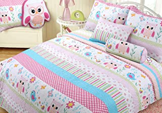 Kids Girls Quilt Butterfly Printed Coverlet Twin Size White Comforter Colourful Butterfly Pattern Quilt for Adult Teens Women Soft Lightweight Bedspread Animal Theme Coverlet Suitable for Bedroom RV