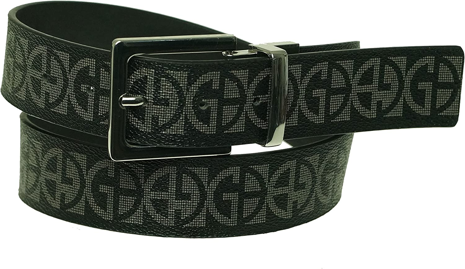 Giani Bernini Women's Reversible Belt Faux Leather Black Medium