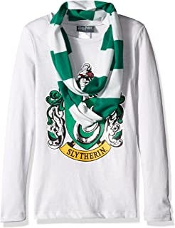 Harry Potter Girls' Hogwarts Long Sleeve T-Shirt with Scarf