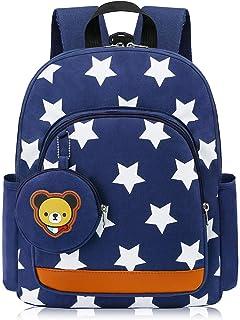 Mochila para Niños Guarderia Niño Mochila Escolar Infantil Bebe Azul Oscuro